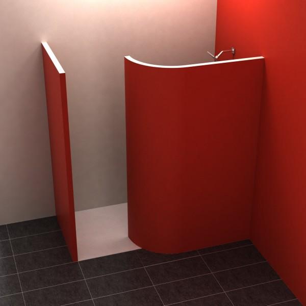 walk in 2 195x120 cm walk in dusche befliesbar duschkabinen duschw nde. Black Bedroom Furniture Sets. Home Design Ideas
