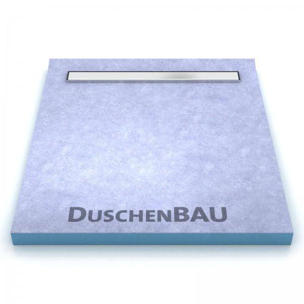 Duschelement 110x130 cm mit APZ106 Low 2-seitiges Gefälle Boardstärke 80 mm