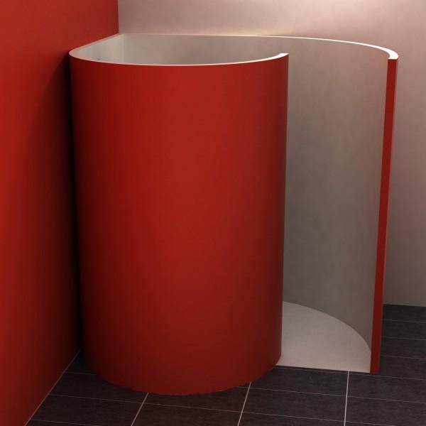 Schneckendusche mit Ecke 170x137,5 cm