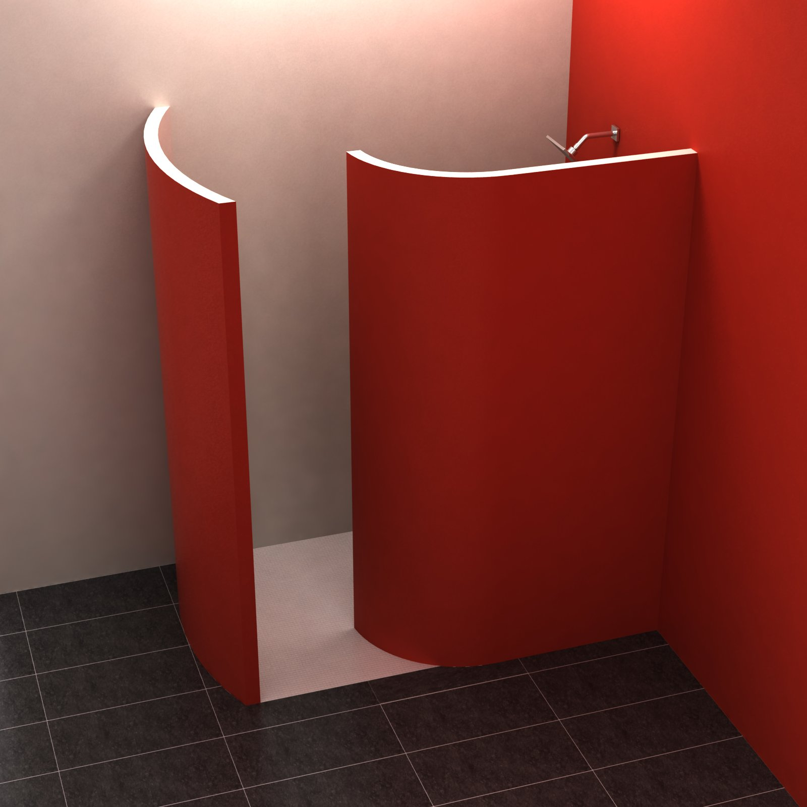 walk in 3 170x100 cm walk in dusche befliesbar duschkabinen duschw nde. Black Bedroom Furniture Sets. Home Design Ideas
