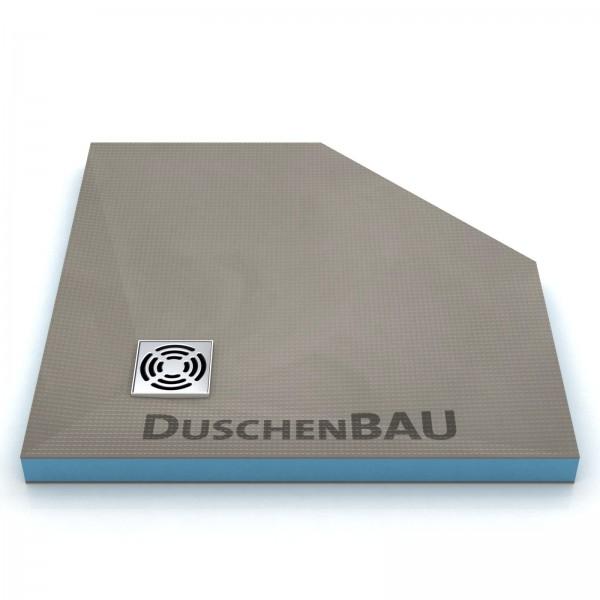 Duschelement 120x120 cm Profi Fünfeck