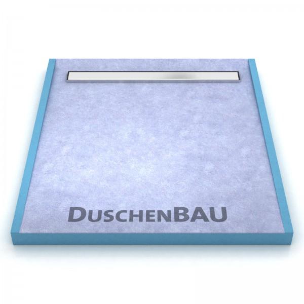 Duschelement 85x100 cm mit APZ106 2-seitiges Gefälle und Ausgleichskeil Boardstärke 80 mm