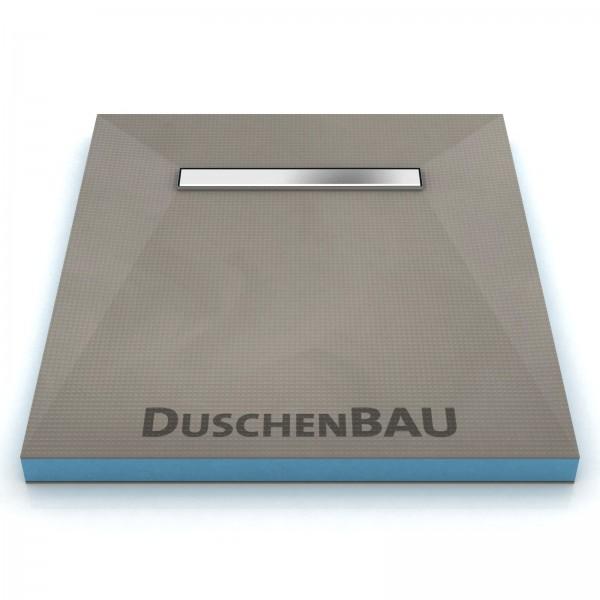 Duschelement 100x130 cm mit APZ106 4-seitiges Gefälle Boardstärke 40 mm