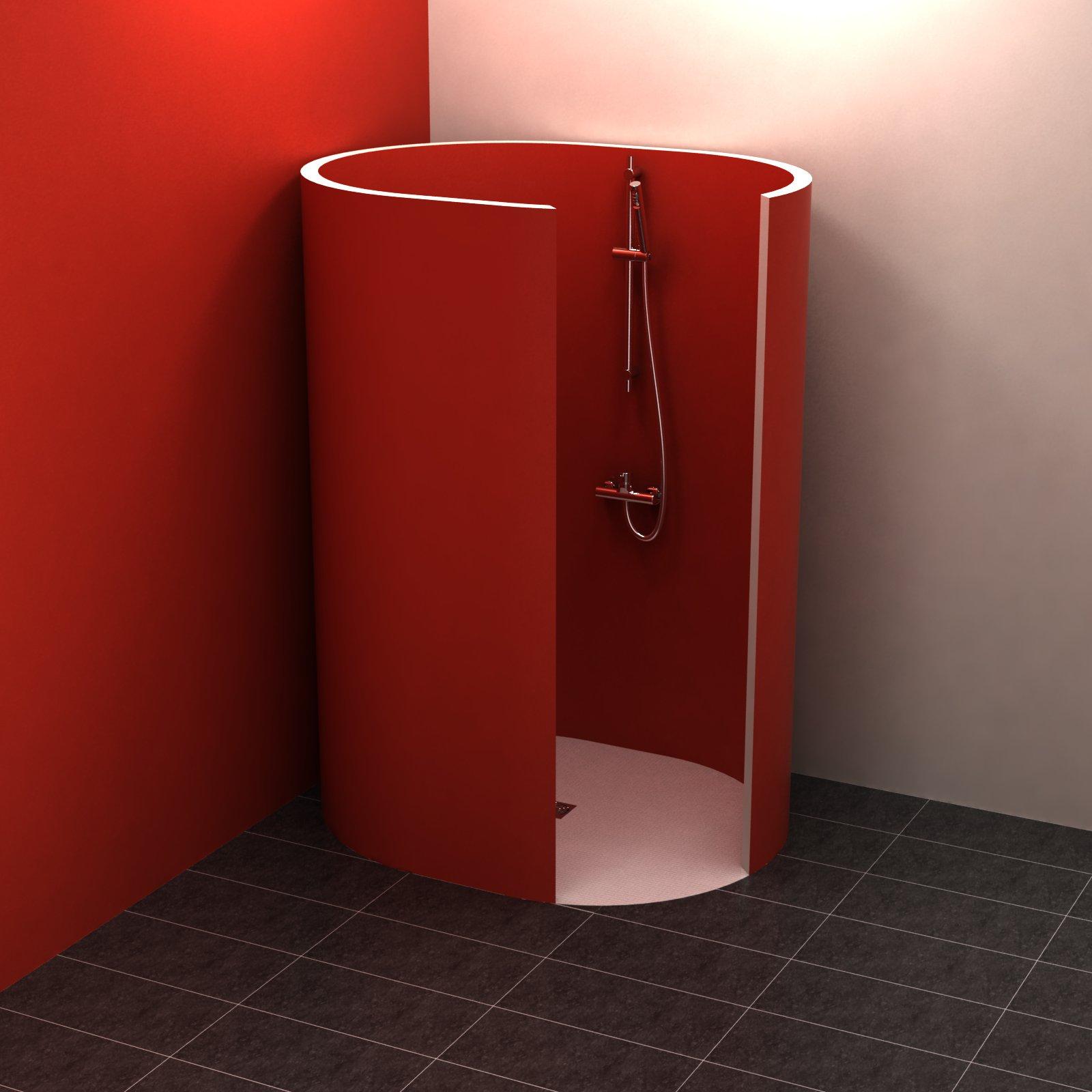 ondo 150x120 cm rundduschen befliesbar duschkabinen duschw nde. Black Bedroom Furniture Sets. Home Design Ideas