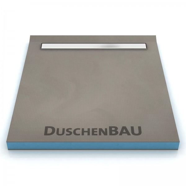 Duschelement 110x110 cm mit APZ106 2-seitiges Gefälle Boardstärke 40 mm