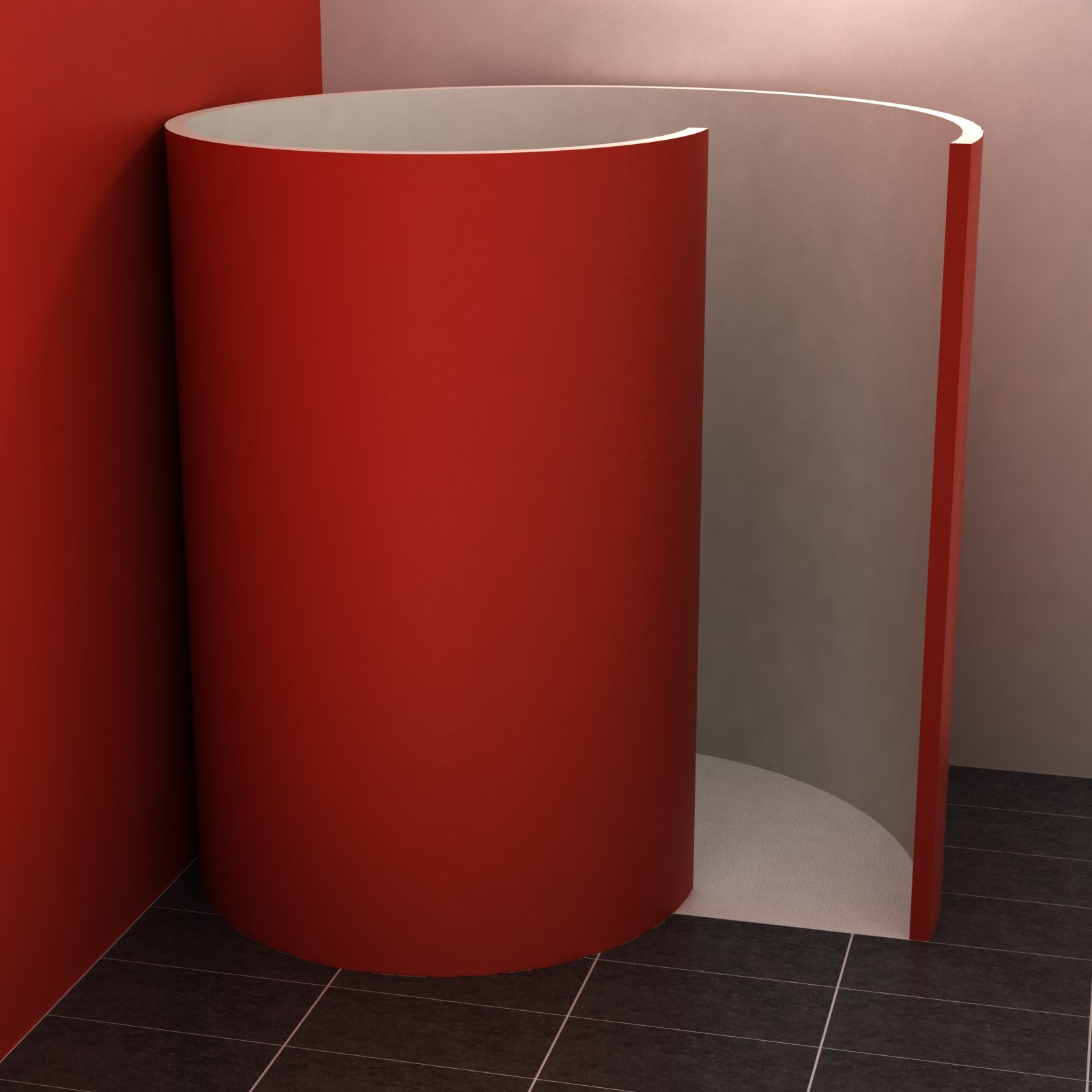 schneckendusche 150x117 5 cm schneckendusche befliesbar duschkabinen duschw nde. Black Bedroom Furniture Sets. Home Design Ideas